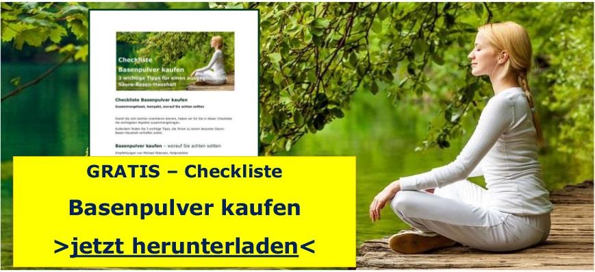 Checkliste Basenpulver